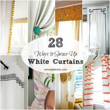 Plain White Curtains Remodelaholic 28 Ways To Spruce Up White Curtains