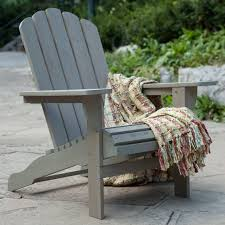 Driftwood Outdoor Furniture by Belham Living Shoreline Wooden Adirondack Chair Driftwood