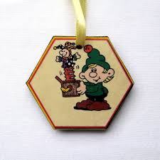 personalized christmas ornament elf with jack in the box