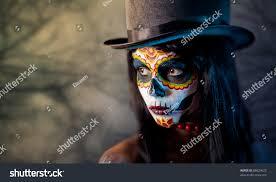 halloween background sugar skulls sugar skull tophat forest stock photo 88829623 shutterstock