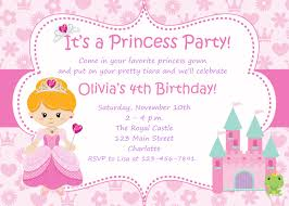 Printable Party Invitation Cards Princess Birthday Party Invitations Plumegiant Com