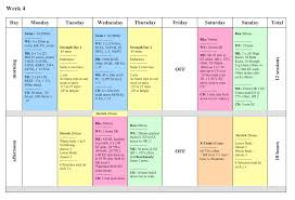 10 best images of weekly work chart weekly activity schedule