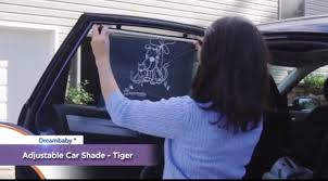 dreambaby wide car window shade demonstration video