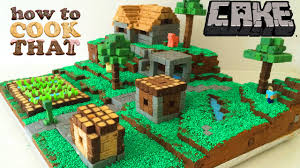 minecraft cake village how to cook that ann reardon youtube