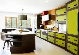fresh green cabinet paint color trend and black pendant lamp for