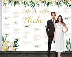 personalized photo backdrop wedding backdrop printable custom backdrop personalized