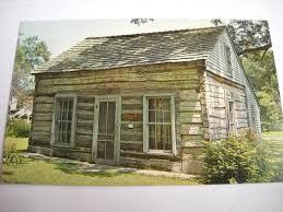 gow old log cabin bellevue nebraska vintage postcard ebay no