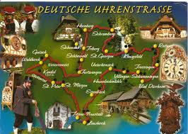 Black Forest Germany Map My Postcard World German Clock Route
