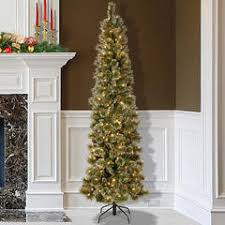 pencil christmas tree trim a home 6 5 pre lit chagne gold pencil tree