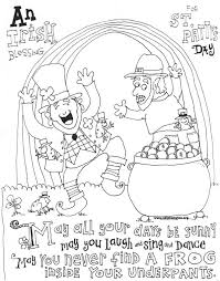 st patrick u0027s day coloring page skip to my lou