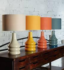 raj table lamp burnt orange 1970s interior design