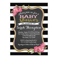 pink and black baby shower invitations announcements zazzle