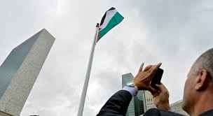 Palistinian Flag United Nations Palestinians Raise Flag At Un U0027s New York