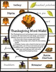 thanksgiving word walls in font d nealian cursive by