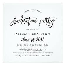 graduation party invitations modern script 2018 graduation party invitation party