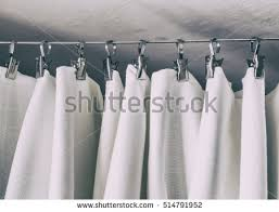 Curtain Hooks With Clips Shower Curtain Stock Images Royalty Free Images U0026 Vectors