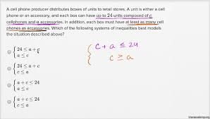 System Of Linear Inequalities Worksheet Systems Of Linear Inequalities Word Problems U2014 Basic Example