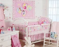 Princess Baby Crib Bedding Sets Baby Nursery Decor Adorable Beautiful Kingdom Theme On Pink