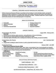 General Labor Resume Objective General Laborer Resume Template