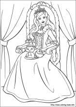 barbie princess pauper coloring pages coloring