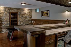 custom basement bar rustic basement columbus by dave fox
