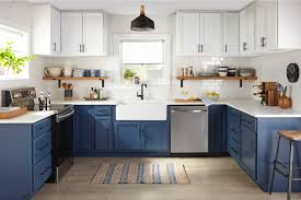 how to paint cabinets fast two color kitchen cabinet makeover how to kilz