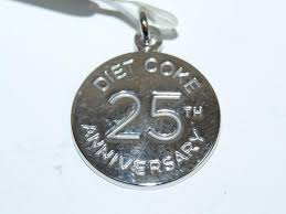 25th anniversary charm sterling silver diet coke 25th anniversary charm
