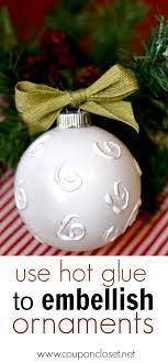 12 days ornaments day 3 glue embellished