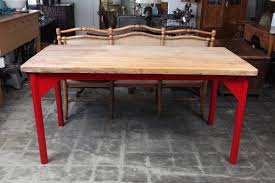 butcher block restaurant prep table with painted metal legs at 1stdibs
