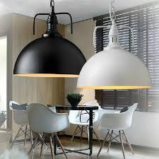 luminaires chambres blanc noir pendentif le moderne vintage industriel edison