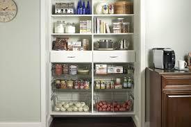 Kitchen Pantry Idea Kitchens Small White Kitchen Pantry Idea With Metal Baskets Inside