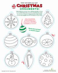 printable christmas ornaments preschool christmas free