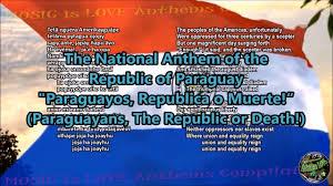 Paraguayan Flag Paraguay National Anthem With Music Vocal And Lyrics Guarani W