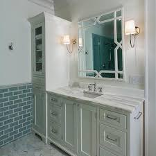 Linen Cabinet For Bathroom Adorable Bathroom Vanity With Linen Cabinet Built In At Best
