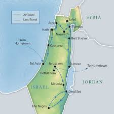 Middle East Map Israel by Israel Small Group Tours