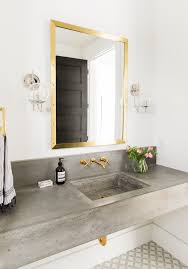Powder Room Towels - concrete bathroom sink powder room transitional with hand towels
