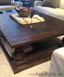 Navigate To Pottery Barn Pottery Barn Inspired Coffee Table This Makes That