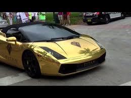 gold chrome lamborghini aventador chrome gold lamborghini gallardo loud acceleration revs