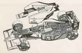 mclaren drawing mclaren mp4 8 ford primotipo