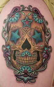 flower sugar skull style designs 3d for and