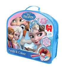 disney frozen puzzle u0026 colour jumbo