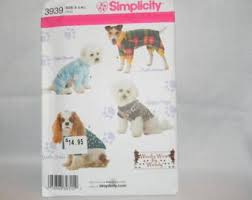 white china pattern 3939 dog clothes pattern etsy