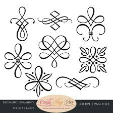 instant calligraphy ornaments graphic ornaments