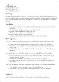 Call Center Resume Sample Without Experience by Professional Call Center Team Leader Templates To Showcase Your
