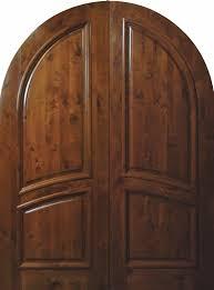 Slab Exterior Door Slab Front Door 96 Wood Knotty Alder 2 Panel Top