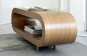curved wood side table oak curved coffee table furniture design pinterest coffee