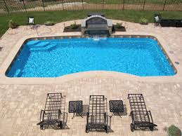 decorating endearing rectangle small inground pool on backyard