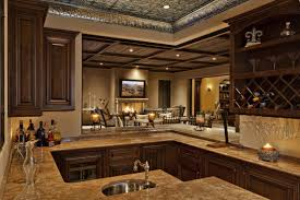 u shaped kitchen design with cool howard miller liquor cabinet