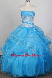 aqua blue ball gown strapless quinceanera dresses for cheap 205 99