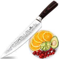 amazon com soufull chef knife 8 inches japanese stainless steel amazon com soufull chef knife 8 inches japanese stainless steel gyutou knife professional kitchen knife with ergonomic handle kitchen dining